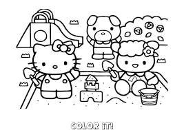Small Picture Hello Kitty Cycling Coloring Page Coloring Home