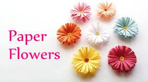 Paper Crafted Flowers Diy Crafts Paper Flowers Daisies Innova Crafts Youtube