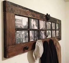 Old Door Coat Rack And Bench Classy Door Converted To Photo Display Home Ideas Pinterest Display