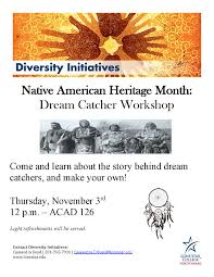 The Story Behind Dream Catchers LSCNorth Harris Native American Heritage Month Dream Catcher 56