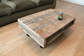 on wheels small wood coffee table