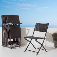 rst folding indoor and outdoor chairs and cart set of 6 free today 13388294