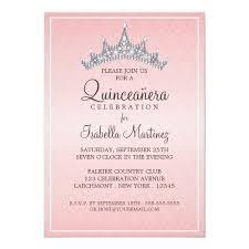 Invitation Quincenera Glam Tiara Quinceanera Celebration Invitation