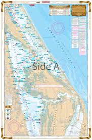 Florida Depth Chart Mosquito Lagoon And Indian River Inshore Fishing Chart 42f