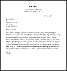 Professional Line Cook Cover Letter Sample Writing Guide