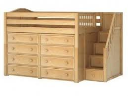 loft storage bed. hit 3 full mid-height loft storage bed with stairs $3 s