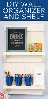 diy wall organizer shelf how to