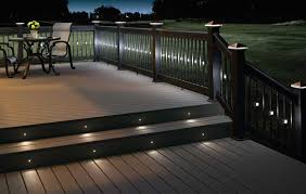 outdoor stairs lighting. White Outdoor Led Strip Stair Lights For A Patio With Wood Deck Stairs Lighting