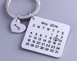 best 25 personalized calendars ideas on pinterest diy calendar Wedding Anniversary Keychain personalized calendar keychain hand stamped calendar by aimeestore 25th wedding anniversary keychain