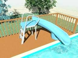 inflatable above ground pool slide. Inground Pool Slides For Sale Build Your Own Slide Above Ground Pools . Inflatable