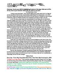 Parts Of A Essay Sample Essay For Highlighting Parts Of An Essay By The Handy Helper