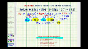 ex solve an equation with decimals and paheses
