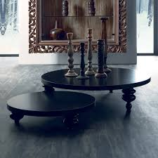 low round designer coffee table set