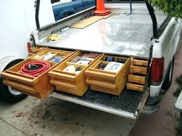 truck bed organizer ideas pickup bed storage