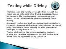 causes and effects of texting while driving essay sample thesis causes and effects of texting while driving essay