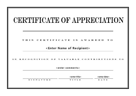 Template Certificate Of Appreciation Magdalene Project Org