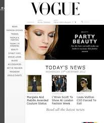 British Vogue | Show beauty, Website inspiration, Responsive site