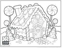 Gingerbread House Coloring Pages For Toddlers Houses Young 464
