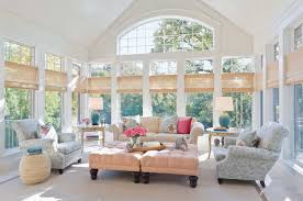 sunroom decorating ideas window treatments. Blind Sunroom With Bamboo Blinds Great Windows For Your Wood Plantation Shutters Door Wooden Roller Style Decorating Ideas Window Treatments O