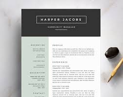 Modern Resume Template and Cover Letter Template by SuitedBrandLab