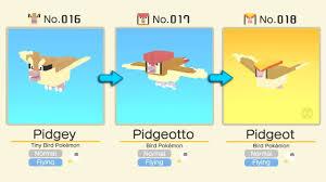 Pokemon Quest Evolution Levels Pidgey Evolution Level
