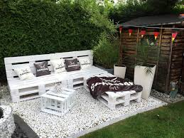 outdoor pallet furniture ideas. White Bench And Table For Outdoor Gatherings Pallet Furniture Ideas Homebnc