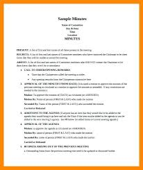 How Write Meeting Minutes Simple Informal Sample Minute Templates