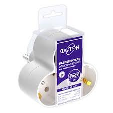 <b>Разветвитель на 3</b> гнезда с заземлением АМ16-3Е Фотон купить ...