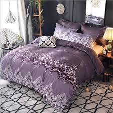 bedding set pug luxury red whilt purple