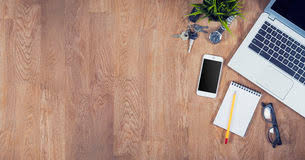 office desk tops. top view office desk royalty free stock images tops