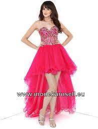 Sexy Vokuhila Abendkleid Pink Vorne Kurz Hinten Lang | Rote ...