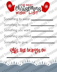 Christmas Wish List Printable The Best Printable Christmas Wish List For Kids Pintsized Treasures 20