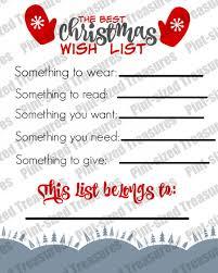 Christmas Wish List Printable The Best Printable Christmas Wish List For Kids Pintsized Treasures 20