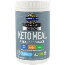 garden of life dr formulated keto meal balanced shake vanilla 1 48 lbs 672 g