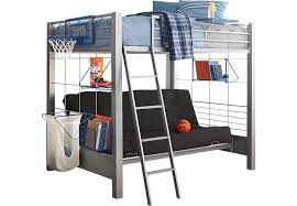 metal bunk bed futon. Build A Bunk Gray 4 Pc Full Futon Loft Bed Beds Metal With Ideas 9