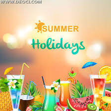 hello summer holidays card hd