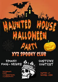 Costume Contest Flyer Template Haunted House Halloween Party Flyer Template Postermywall