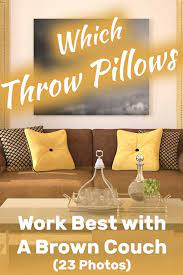 what pillows go with a brown couch 23