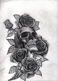тату розы череп тату череп татуировки и все о них фото эскизы