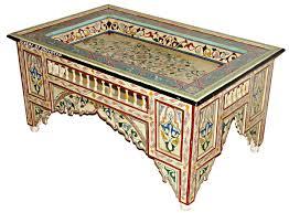 Image Decor The Ancient Home Zouak Cream Table