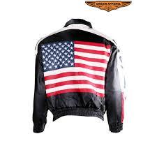 usa flag leather motorcycle jacket