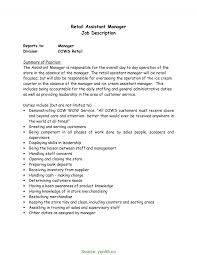 Sale Assistant Duties Resume How To Write A Sales Assistant Job