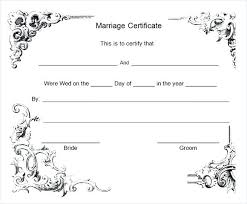 Marriage Certificate Template Word For Illinois License Translation