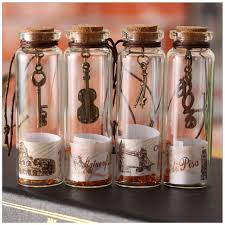 How To Decorate A Jar Cute Vintage Sand Drift Bottle Mini Clear Cork Stopper DIY Glass 62