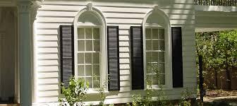 black exterior window shutters. Plain Black On Black Exterior Window Shutters E
