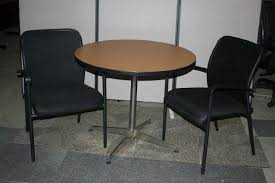 round lunch tables image