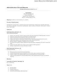 Examples Of Administrative Resumes Magnificent Clerical Cover Letter Sample Application Letter For Admin Clerk