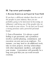 10 Example Of Career Objective Hospedagemdesites165 Com