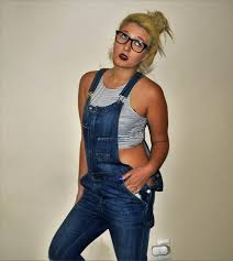 Addie Weaver - H&M Denim Overalls, American Eagle Outfitters Striped Crop  Top - 90's Kids | LOOKBOOK