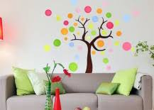 you can get them in all sorts of shapes colors and designs and they re ridiculously easy to peel stick and remove later  on is vinyl wall art easy to remove with 8 fun and easy ways to use polka dot wall decals